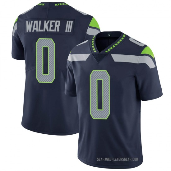 D'Andre Walker Seattle Seahawks No.0 Limited Team Color Vapor Untouchable Jersey - Navy