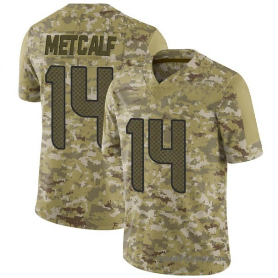 DK Metcalf Seattle Seahawks No.14 Limited 2018 Salute to Service Jersey - Camo