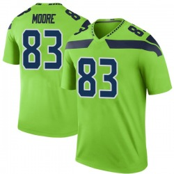 David Moore Seattle Seahawks No.83 Legend Color Rush Neon Jersey - Green