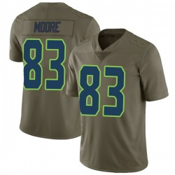 David Moore Seattle Seahawks No.83 Limited 2017 Salute to Service Jersey - Green