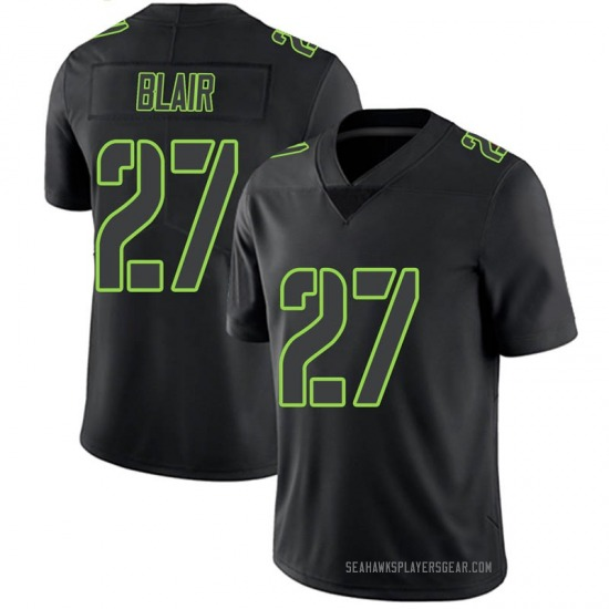 Youth Marquise Blair Seattle Seahawks No.27 Limited Jersey - Black Impact